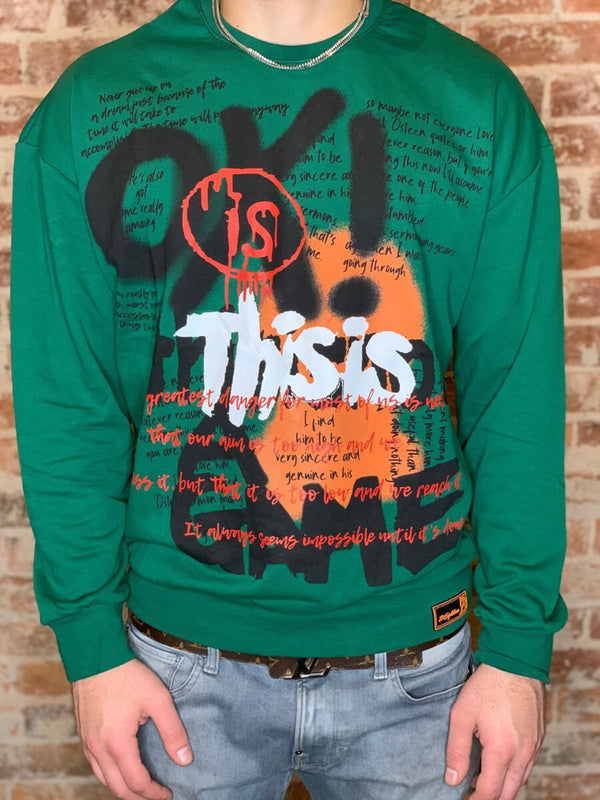 Plus Eighteen: This Is A Game Crewneck (Green)
