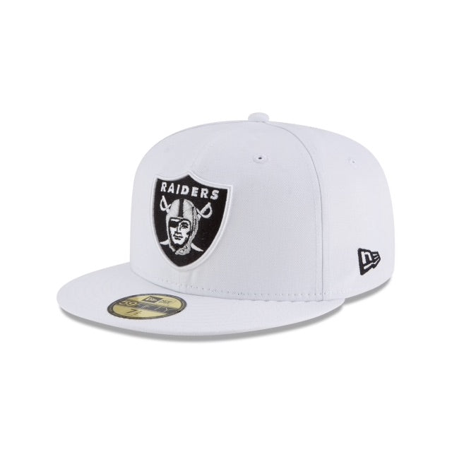 New Era Authentic 59Fifty Fitted: Oakland Raiders (White)