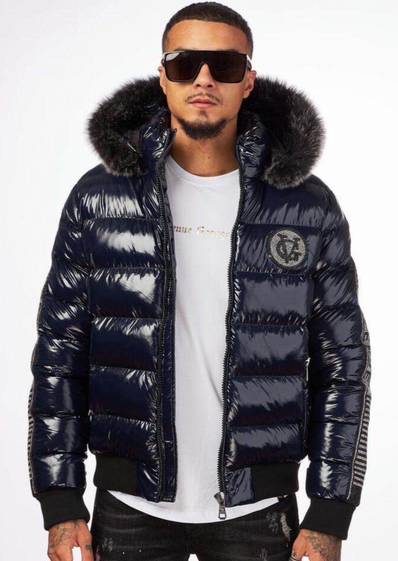 George V: GV - 9472 (Navy) Bubble Jacket