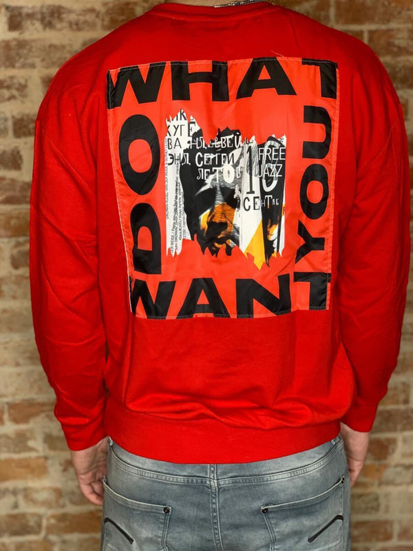 Plus Eighteen: What Do You Want Crewneck (Red)