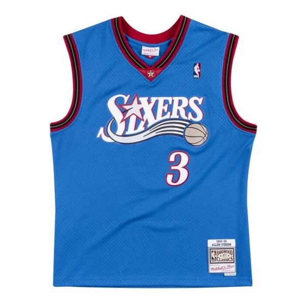 Mitchell & Ness NBA Swingman Allen Iversion Jersey ('00 76ers - Alt Blue)