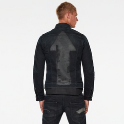 G-Star RAW: ARC 3D SLIM ARROW PRINT JACKET (Antic Dark Ink Blue)