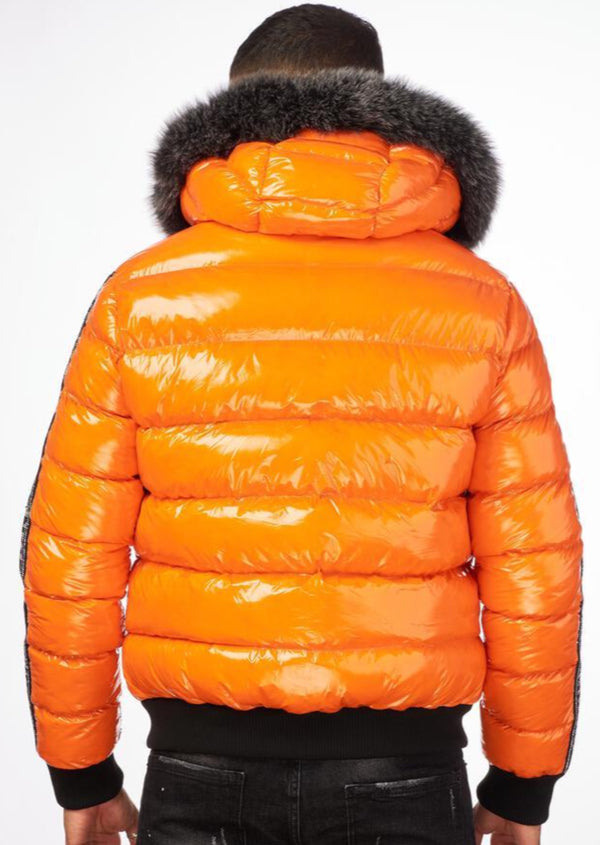 George V: GV - 9472 (Orange) Bubble Jacket