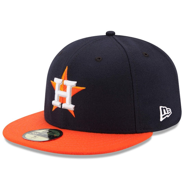 New Era Authentic 59Fifty Fitted: Houston Rangers (Navy/Orange)