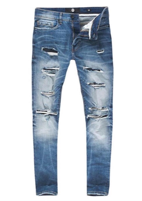 Jordan Craig: Sean Ripped Denim (Medium Blue)
