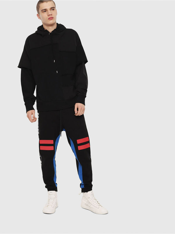 DIESEL: P-YATRI TRACK PANTS (BLACK/BLUE/RED)