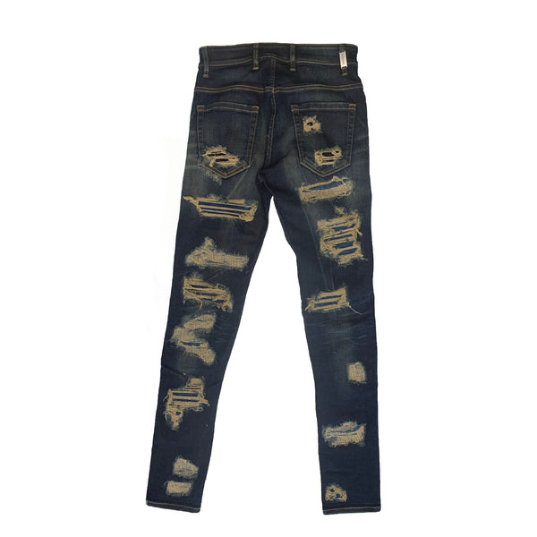 Represent: Shredded Denim (Classic Blue)