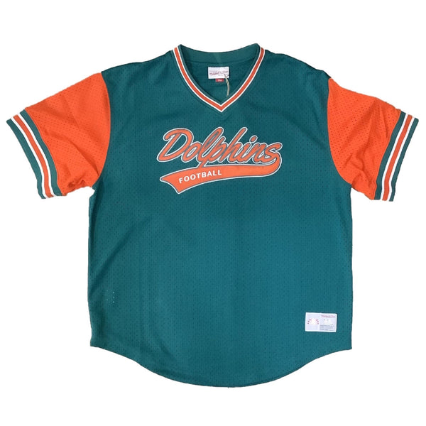 Mitchell & Ness: Throwback NFL AFC Baseball Jersey Miami Dolphins (1989-1996)