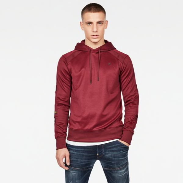 G-Star Raw: MOTAC SLIM HDD SW L\S Hoodie (Port Red)