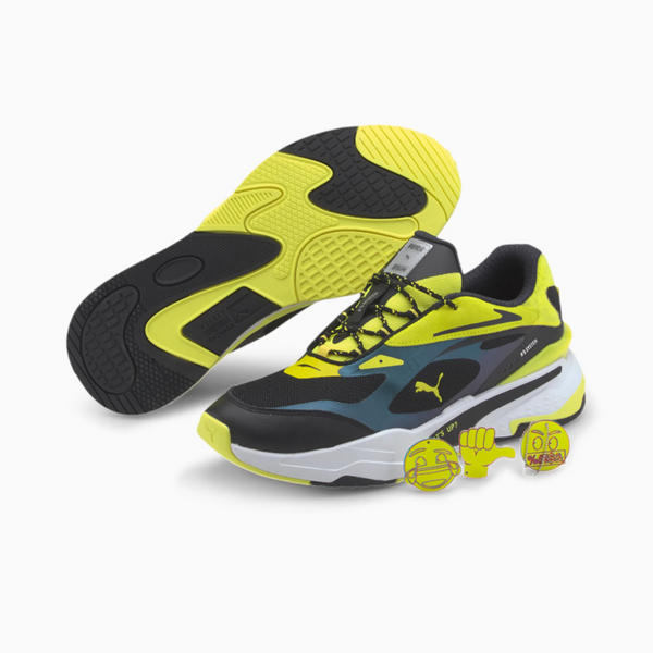 PUMA: RS-FAST X EMOJI (SILVER-FLUO YELLOW-BLACK)