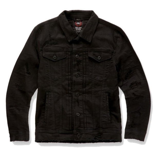 Jordan Craig: Tribeca Twill Trucker Jacket (Black)