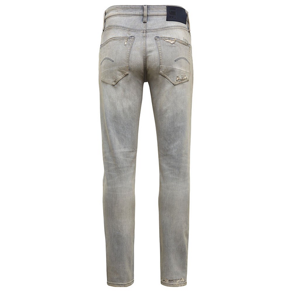 G-STAR RAW: 3301 SLIM Denim Jeans (VINTAGE RIPPED ORION GREY)
