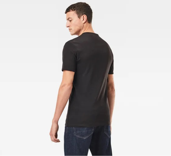 G-Star Raw: BASE-S V-NECK T-SHIRT (Dark Black)