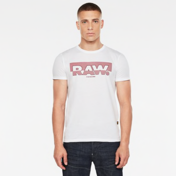 G-STAR RAW: RAW GRAPHIC SLIM T-SHIRT (White)