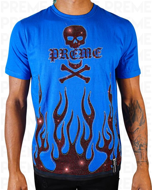 Preme: Blue Flame T-Shirt (Red Flames)