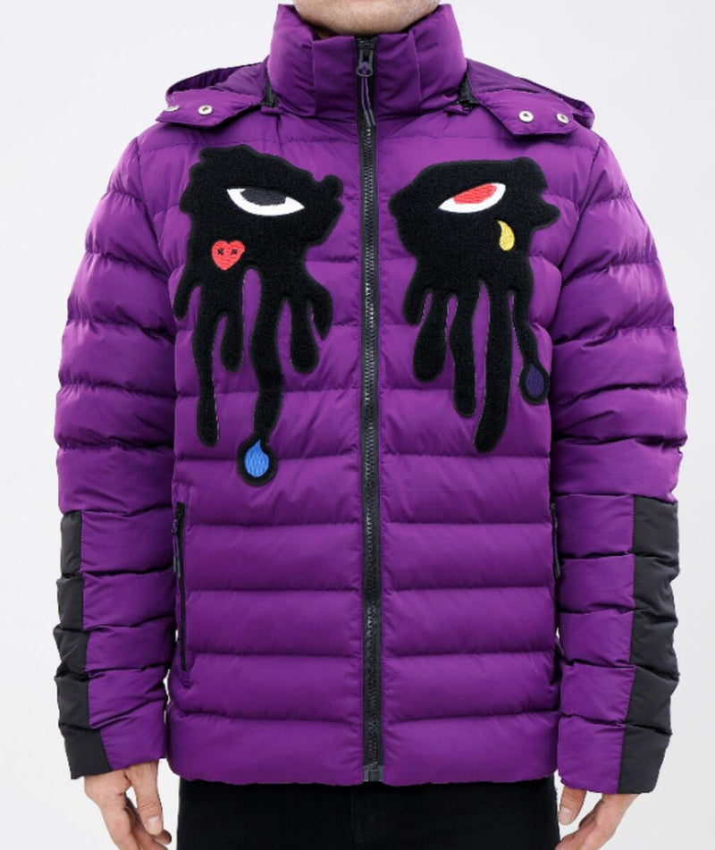 ROKU: ROKU Tear Drip Bubble Jacket (Purple)