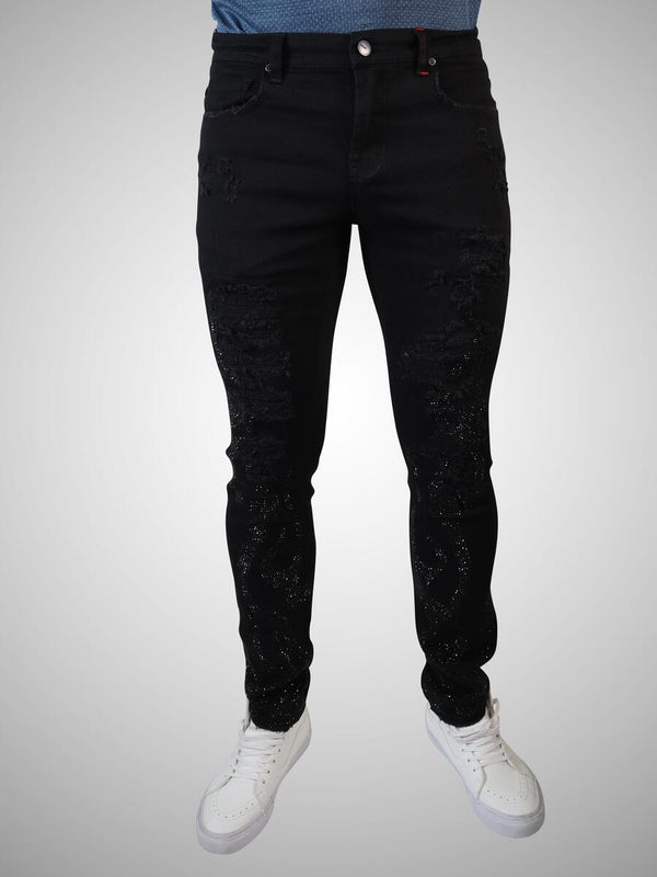 Preme: Buffalo Black Denim (Black Flames)