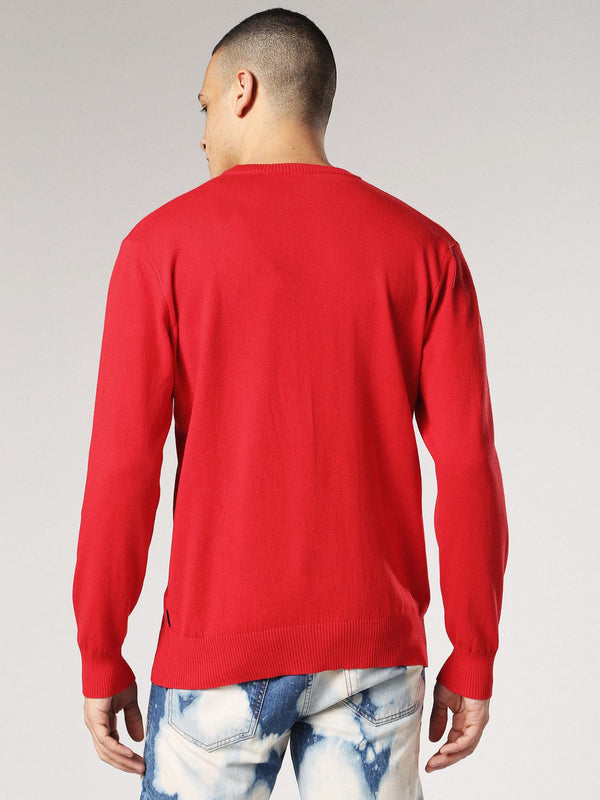 DIESEL: K-Panthy Sweater (Vibrant/Red)