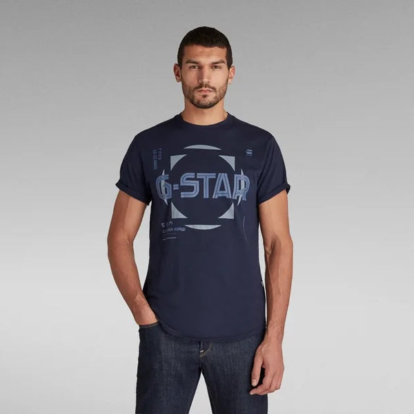 G-STAR RAW: LASH GRAPHIC T-SHIRT (SARTHO BLUE)