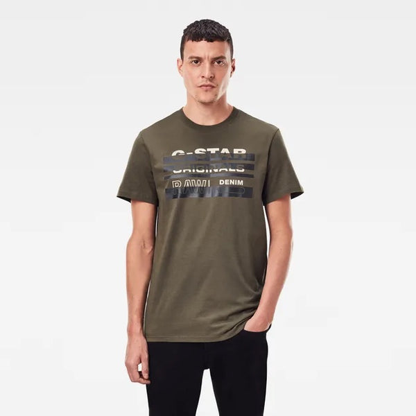 G-STAR RAW: Originals Stripe Logo (Olive Green)