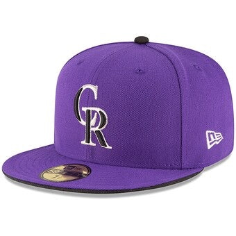 New Era Authentic 59Fifty Fitted: Colorado Rockies (Purple)