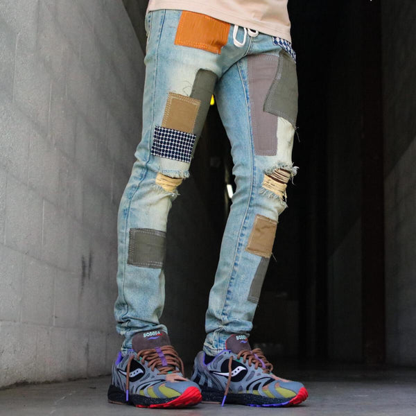 THRT: Santorini Patchwork Blue Wash (Denim)