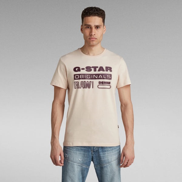 G-STAR RAW: ORIGINALS HD GRAPHIC T-SHIRT (BRIGHT LIQUID PINK)