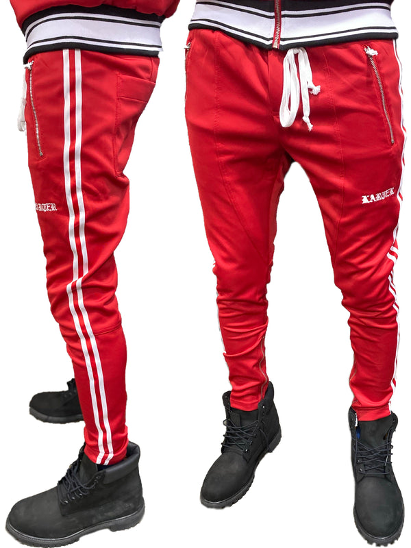 Karter Collection: Brady Track Pants (Red)