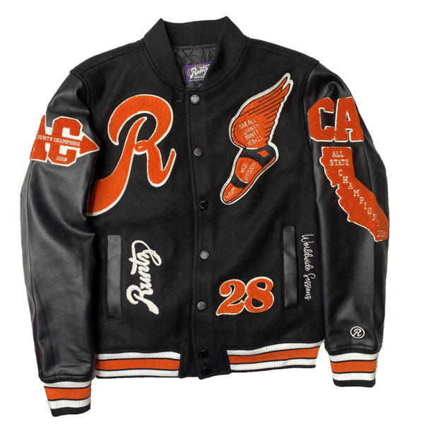 RUNTZ: ALL COUNTY VARSITY JACKET (Black/Orange)