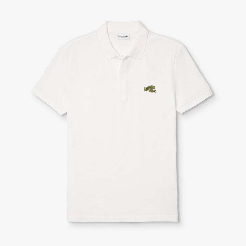 Lacoste: Men's Embroidered Badge Piqué Polo Shirt (White)