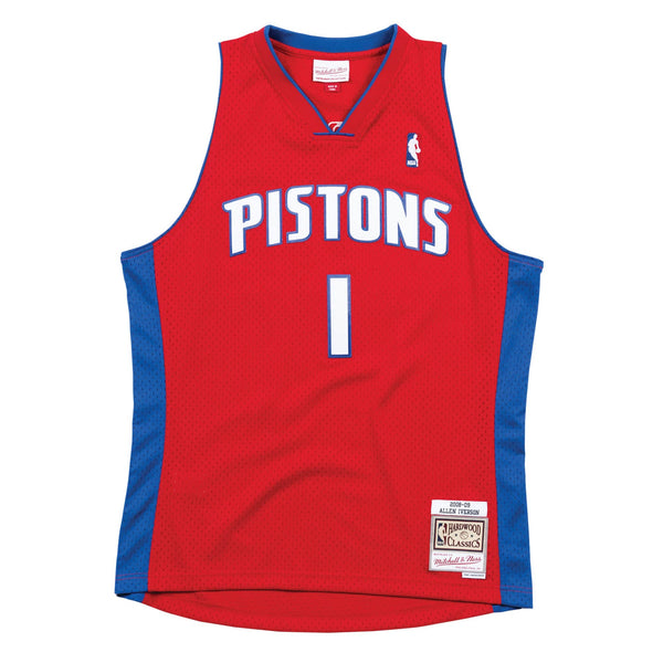 Mitchell & Ness NBA Swingman Collection Allen Iverson Jersey ('08 Pistons-Road)