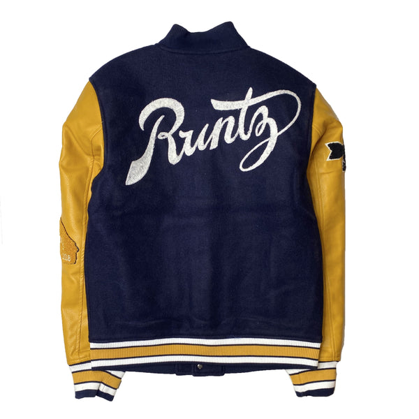 RUNTZ: ALL COUNTY VARSITY JACKET (Navy/Yellow)