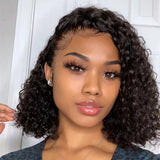 Hot Beauty Hair Glueless Frontal Lace Wig Deep Wave Pre Plucked