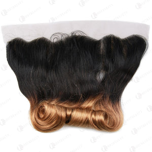 Hot Beauty Hair 13x4 Lace Frontal Hair Ombre Egg Curl Closure