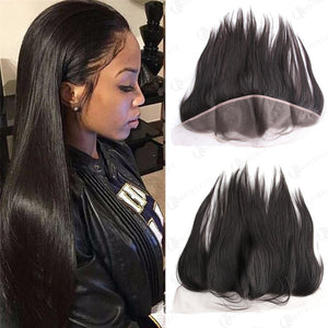 Hot Beauty Hair 13x4 Lace Frontal Hair Silk Straight Closure