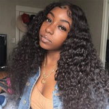 Hot Beauty Best Virgin Human Hair 13x4 Glueless Deep Wave Lace Frontal Wig