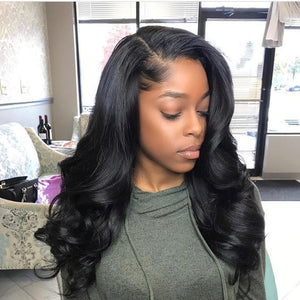 Hot Beauty Hair 13x7 Frontal Lace Wig High Density Glueless Install
