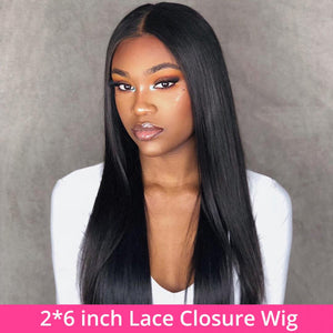 Hot Beauty Hair 2x6 Lace Closure Wig Straight
