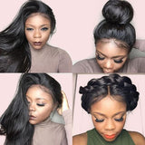Hot Beauty Hair Breathable 360 Lace Wig 100% Virgin Human Hair Pre Plucked Straight