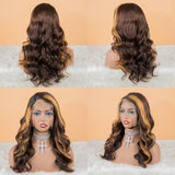 Hot Beauty Hair 4/27 Mix Color Highlight Frontal Lace Wig