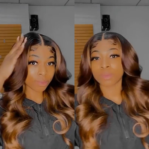 Mix Highlight Ombre Color Closure Lace Wig