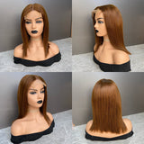 Color #4 Ombre Bob Wig 4x4 Closure Lace Wig