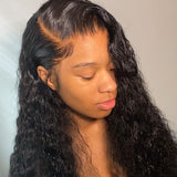 Hot Beauty Hair 4x13 Frontal Lace Wig Glueless Human Hair Deep Wave