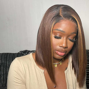 Hot Beauty Hair 4/27 Ombre Closure Lace Wig