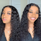 Versatile Wet And Wavy Lace Closure Wig