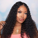 Hot Beauty Hair 4x13 Frontal Lace Wig Glueless Human Hair Deep Wave Middle Part