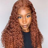 Hot Beauty Hair Cinnamon Brown Color 180% Density T Part Lace Wig