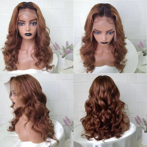 Hot Beauty Hair Honey Brown High Density Frontal Lace Wig