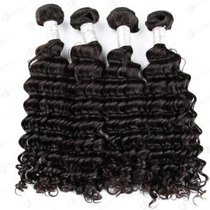 Hot Beauty Hair Peruvian 3 Bundles Deep Wave 100% Virgin Human Hair Weave