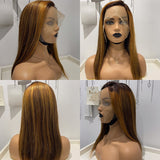 Hot Beauty Hair Ombre Color High Density T Part Lace Wig Straight